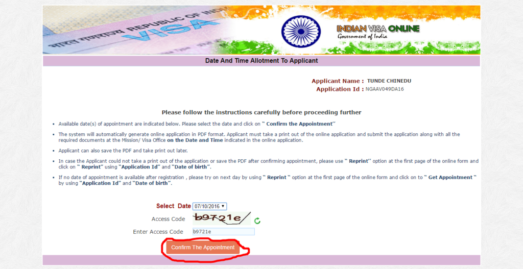 Medical visa to India